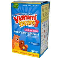 Hero Nutritionals Yummi Bears Watermellon Vitamin & Minerals (1x90 BEARS)