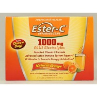 American Health 1000mg Effervescent Orange Ester-C (1x21 PKT)