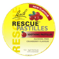 Bach Flower Essences Rescue Pastilles, Cranberry (12x50 GR)